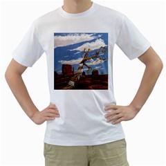 Acrylic Paint Paint Art Modern Art Men s T Shirt (white)