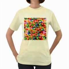 Background Abstract Women s Yellow T Shirt