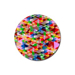 Background Abstract Rubber Round Coaster (4 pack)