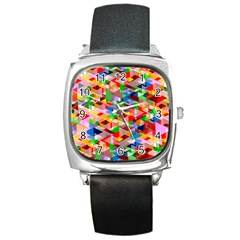 Background Abstract Square Metal Watch