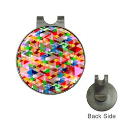 Background Abstract Hat Clips With Golf Markers