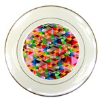 Background Abstract Porcelain Plates Front