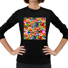 Background Abstract Women s Long Sleeve Dark T-Shirts