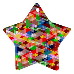 Background Abstract Star Ornament (two Sides)