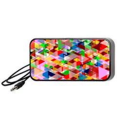 Background Abstract Portable Speaker (black)