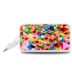 Background Abstract Portable Speaker (white)