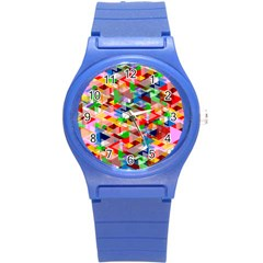 Background Abstract Round Plastic Sport Watch (s)