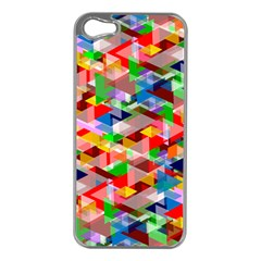 Background Abstract Apple Iphone 5 Case (silver)