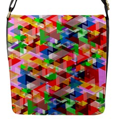 Background Abstract Flap Messenger Bag (s)