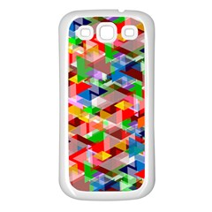 Background Abstract Samsung Galaxy S3 Back Case (white)