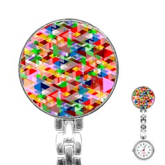 Background Abstract Stainless Steel Nurses Watch