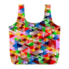 Background Abstract Full Print Recycle Bags (l)
