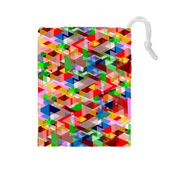 Background Abstract Drawstring Pouches (large)