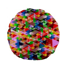 Background Abstract Standard 15  Premium Flano Round Cushions