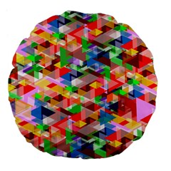 Background Abstract Large 18  Premium Flano Round Cushions