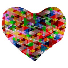 Background Abstract Large 19  Premium Flano Heart Shape Cushions