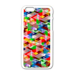 Background Abstract Apple Iphone 6/6s White Enamel Case
