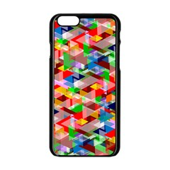 Background Abstract Apple Iphone 6/6s Black Enamel Case