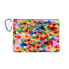 Background Abstract Canvas Cosmetic Bag (m)