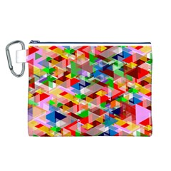 Background Abstract Canvas Cosmetic Bag (l)