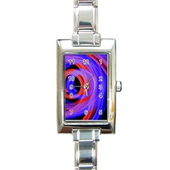Background Blue Red Rectangle Italian Charm Watch