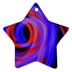 Background Blue Red Ornament (Star)
