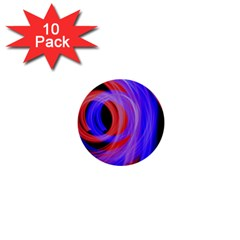Background Blue Red 1  Mini Buttons (10 pack)