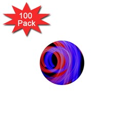 Background Blue Red 1  Mini Magnets (100 Pack)