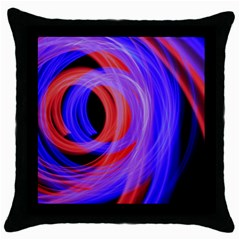 Background Blue Red Throw Pillow Case (black)