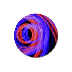 Background Blue Red Magnet 3  (round)
