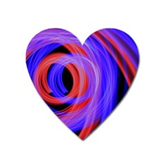 Background Blue Red Heart Magnet