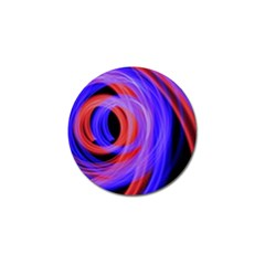 Background Blue Red Golf Ball Marker (10 Pack)