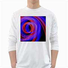 Background Blue Red White Long Sleeve T Shirts