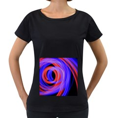 Background Blue Red Women s Loose Fit T Shirt (black)