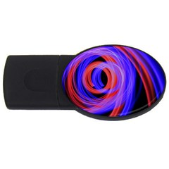 Background Blue Red USB Flash Drive Oval (4 GB)