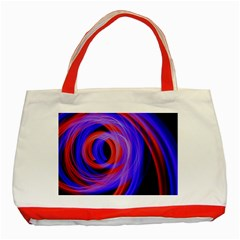Background Blue Red Classic Tote Bag (red)