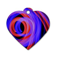 Background Blue Red Dog Tag Heart (one Side)