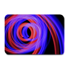 Background Blue Red Plate Mats