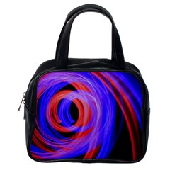 Background Blue Red Classic Handbags (one Side)
