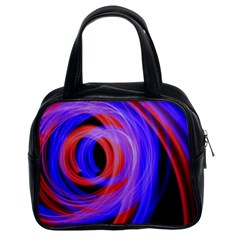 Background Blue Red Classic Handbags (2 Sides)