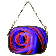 Background Blue Red Chain Purses (two Sides)
