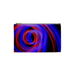 Background Blue Red Cosmetic Bag (small)