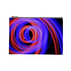 Background Blue Red Cosmetic Bag (large)