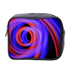 Background Blue Red Mini Toiletries Bag 2 Side