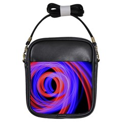 Background Blue Red Girls Sling Bags