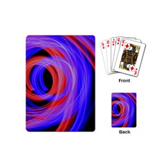 Background Blue Red Playing Cards (mini)