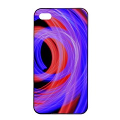 Background Blue Red Apple Iphone 4/4s Seamless Case (black)