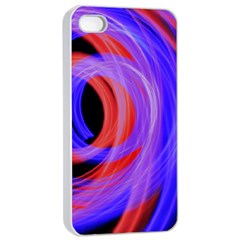 Background Blue Red Apple Iphone 4/4s Seamless Case (white)
