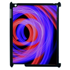 Background Blue Red Apple Ipad 2 Case (black)