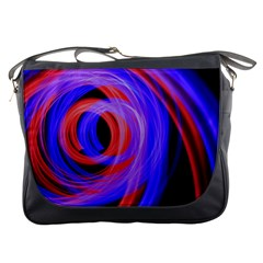Background Blue Red Messenger Bags